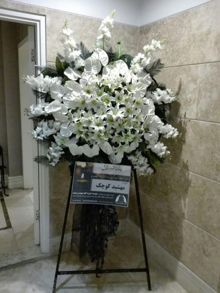 تاج گل مصنوعی یک طبقه   کد 102