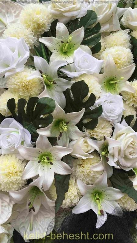 تاج گل مصنوعی دو طبقه | کد 203