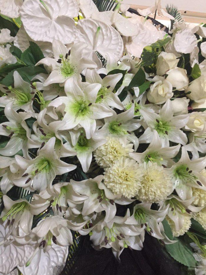 تاج گل مصنوعی دو طبقه ویژه   کد 253